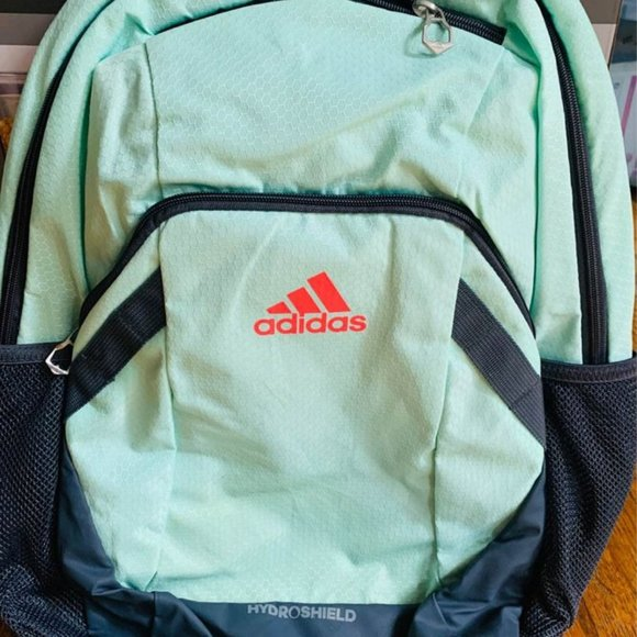 Adidas Hydroshield backpack, Mint and Red